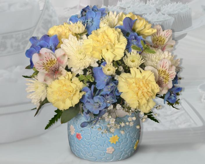 [Image: It's A Boy! Baby shower flowers are the perfect way to celebrate.]