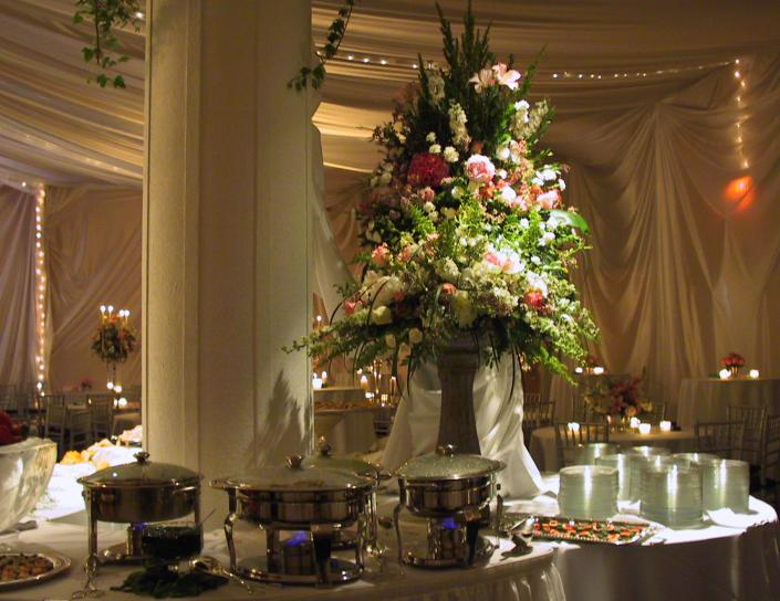 Flowers are perfect for adding elegance to any buffet or dessert table!